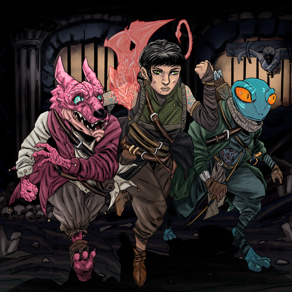 Join Raspberry, Tursia, and Marsh in a dark comedy adventure story where the tyannical Qa'gull government lay waste to the land around them. Join them on Fridays.